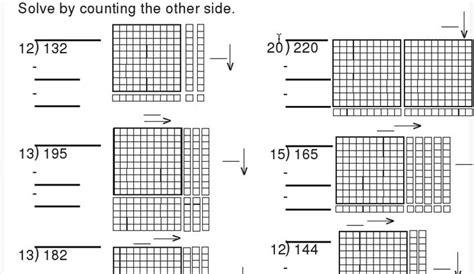base ten block division worksheet math