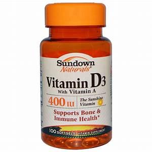 Vitamin D3 Berechnen : sundown naturals vitamin d3 with vitamin a 400 iu 100 softgels ~ Themetempest.com Abrechnung