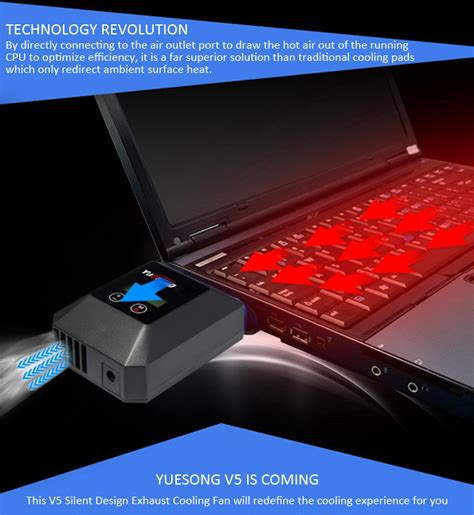 ac powered computer fan yuesong v5 suction laptop cooler lcd fan radiator