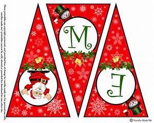 diy free printable christmas banner vanitha made me With christmas letter banner