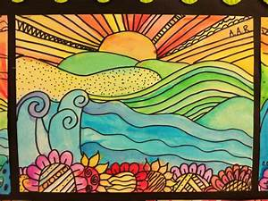 5th grade elementary art - teaching foreground, middle ...