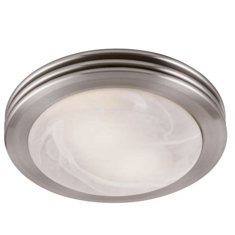 Bathroom Light And Exhaust Fan Combination by Utilitech 2 Sone 80 Cfm Brushed Nickel Bathroom Fan With