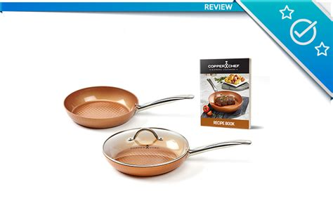 copper chef diamond pan review  stick cerami tech cookware set