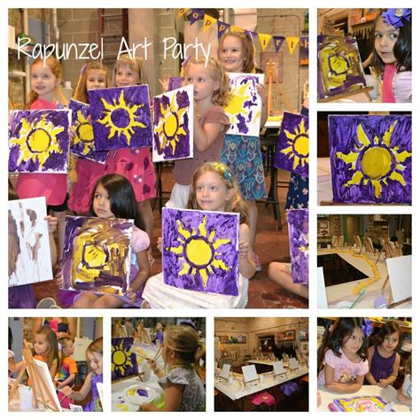 Rapunzel Tangled Art Party Fun Kids Party Held At