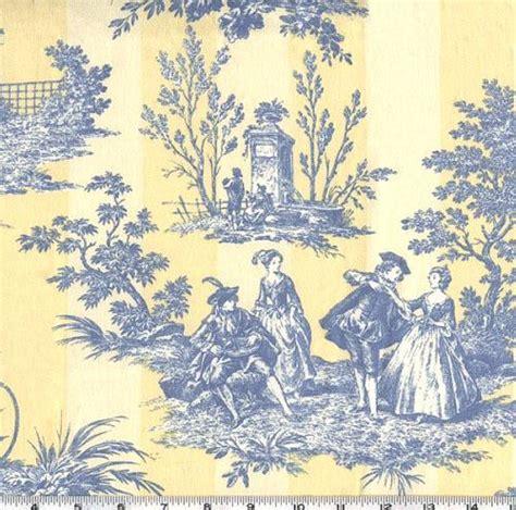Blue Toile Wallpaper And Fabric Wallpapersafari