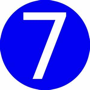Blue, Rounded,with Number 7 Clip Art at Clker.com - vector ...