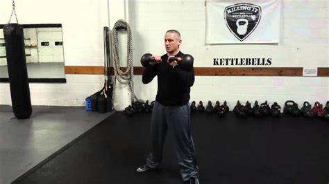 kettlebell clean press squat double front