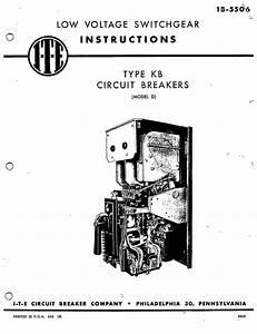 1b 5506 type kb circuit breakers model d manual i t e With add circuit breaker