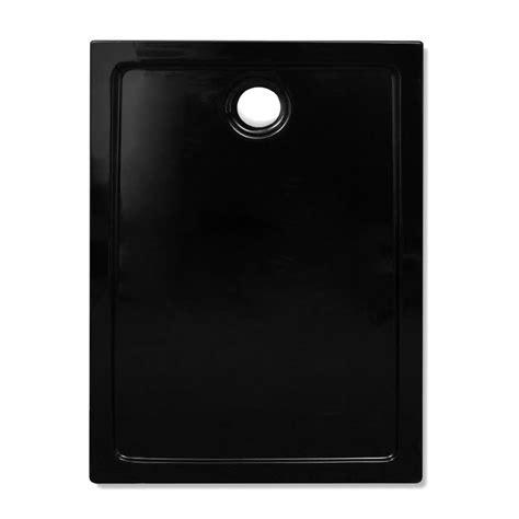 piatto doccia 70 100 piatto doccia rettangolare in abs nero 70 x 100 cm vidaxl it