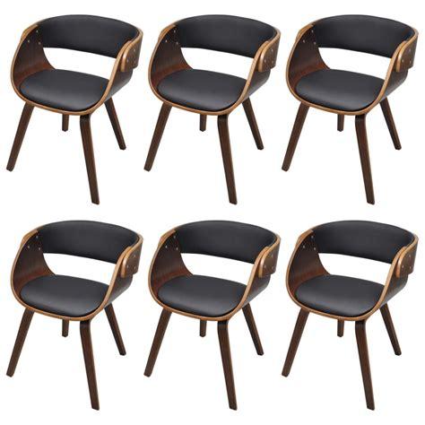 chaises lot de 6 la boutique en ligne lot de 6 chaises à accoudoirs salle à manger brun vidaxl fr
