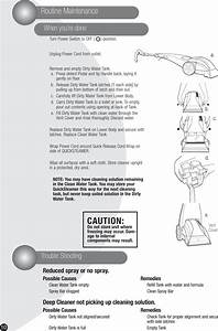 Bissell Quickwash 1950 Users Manual User U0026 39 S Guide 2050 Series E