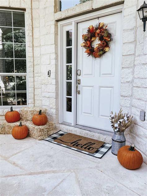 fall front porch decor  walmart life  lee