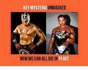 Rey Mysterio Unmasked Himself Pictures to Pin on Pinterest ...