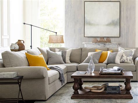 pearce sectional classic living room pottery barn