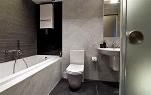 Kleine Moderne Badezimmer : elegantes bad in schwarz wei marmor und fliesen ideen wohnen pinterest kleine badezimmer ~ Sanjose-hotels-ca.com Haus und Dekorationen