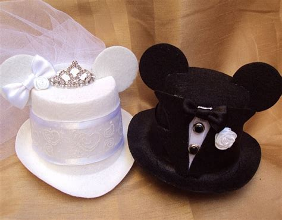 mouse ears bridal mini top hat fascinator  veil