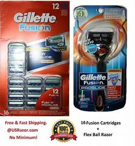 17 Flex Ball Gillette Fusion Proglide Manual Razor Blade