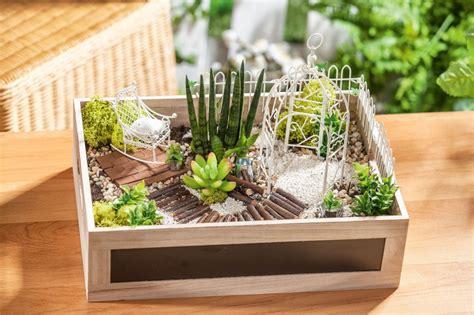 Mini Gärten Gestalten by Mini Garten In Der Holzkiste Vbs Hobby Bastelshop
