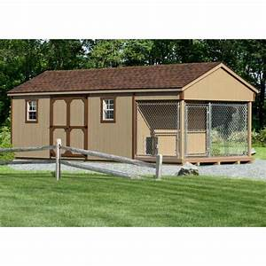 10 x 18 ft amish made large dog kennel and shed combo With pinecraft dog kennels