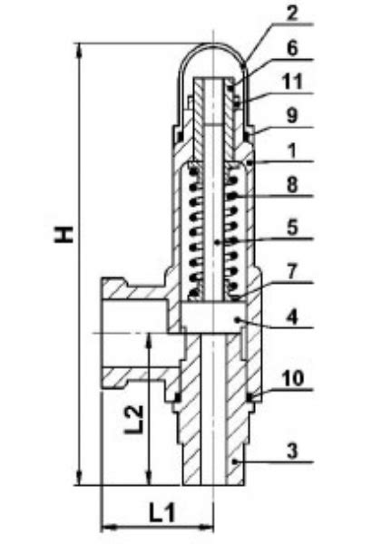 STAINLESS SAFETY VALVE WITH SPRING-STAINLESS SAFETY VALVE