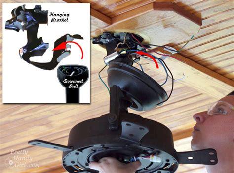 Ceiling Fan Hanging Bracket by How To Install A Ceiling Fan Pretty Handy