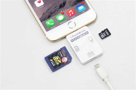 iphone card reader i flashdrive ii memory card reader for iphone and