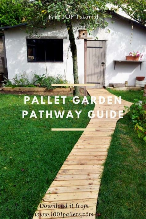 diy  tutorial pallet garden pathway  pallets