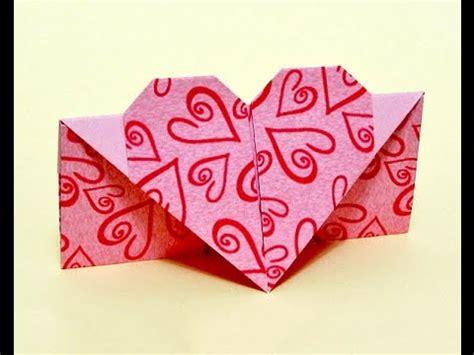 easy origami heart envelope diy heart shaped greeting