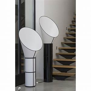 floor lamp grand cargo 3 white with black cylinders With lamp table cargo