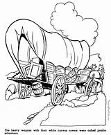 Coloring Pages Prairie Pioneer Crafts American History Wagon Schooners Kid Covered Sheets Patrioticcoloringpages sketch template