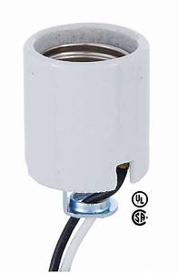 Medium Base Porcelain Socket With Hickey And 18 Lead Wires