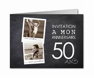 Faire Part Anniversaire 50 Ans : invitation anniversaire 50 ans carte invitation ~ Edinachiropracticcenter.com Idées de Décoration