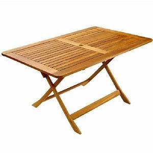 Table Jardin Bois Pliante : table de jardin en bois pliante topiwall ~ Teatrodelosmanantiales.com Idées de Décoration