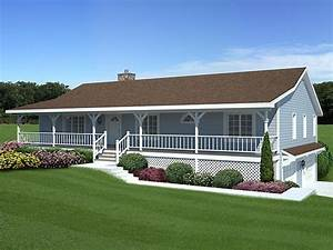 small house with ranch style porch ranch house plans with With ranch home designs with porches