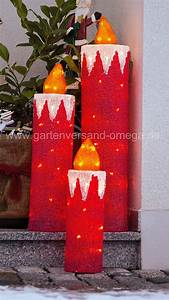 Acryl Für Aussen : led weihnachtsau enbeleuchtung acryl kerzen set au endekoration weihnachtsbeleuchtung f r ~ Frokenaadalensverden.com Haus und Dekorationen