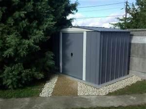 Abri de jardin metal lm 86 405 m2 ep022 mm leroy merlin for Abri jardin metal leroy merlin 17 brouette brico depot pas cher
