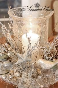 the decorated house white silver christmas mystic centerpiece inspired by mythic nest