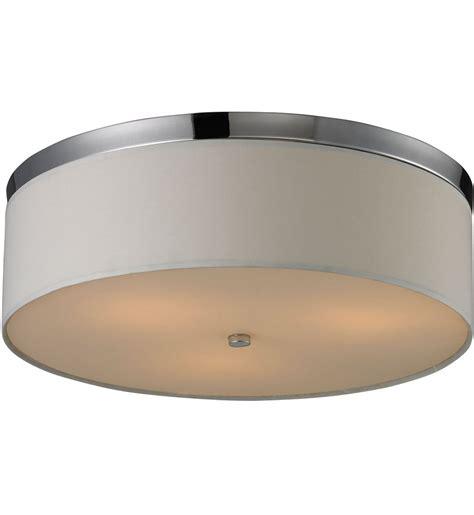 polished chrome desk accessories elk lighting flushmounts polished chrome 3 light flush