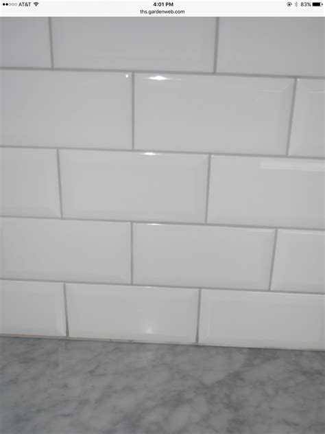 subway tile   oyster gray grout bathroom