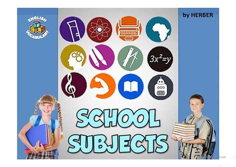 school subjects  worksheet  esl projectable