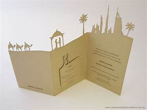 Dubai laser cut landscape wedding invitation http www for Laser cut wedding invitations dubai