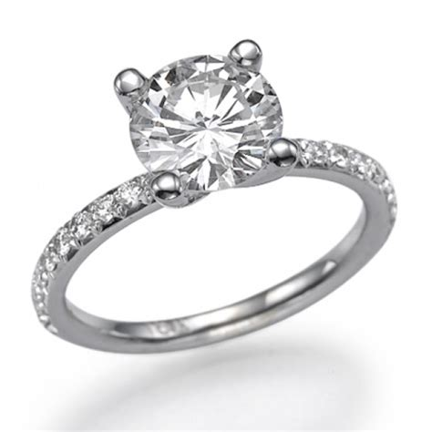 swarovski pb engagement ring with side stones ballerina 1 carat 1 00ct cut in 14k