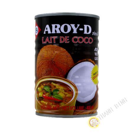 cuisine lait de coco lait de coco pour la cuisine aroy d 400ml thailande