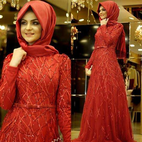 baju pesta muslimah terbaru  sentuhan modern