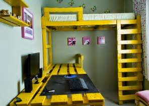 schreibtisch für kinderzimmer schreibtisch selber bauen 29 ideen aus holz europaletten