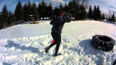 Working out in the snow! - YouTube