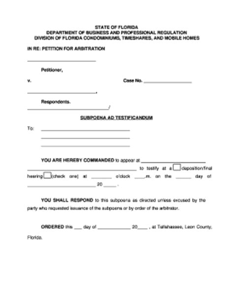 a sle subpeona form for ohio blank subpoena form fill online printable fillable