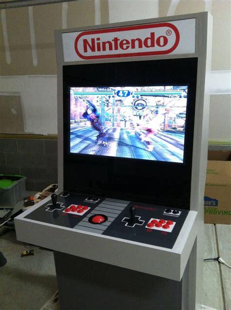 custom arcade cabinet nintendo themed arcade cabinet epically retrofies your