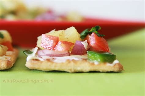 easy no cook canapes pineapple salsa canapes whats cooking