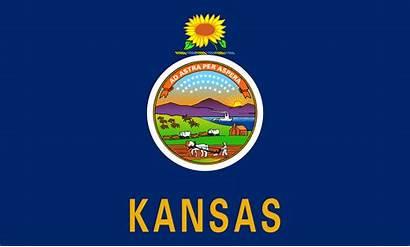 Kansas Flag Staten Verenigde Afkomstig Wikipedia State